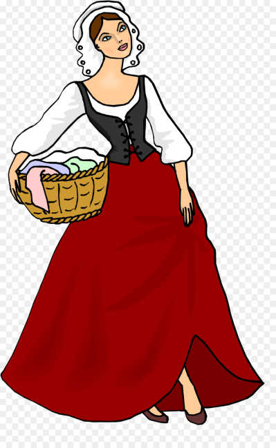 Peasant girl during the middle ages clipart vector free Peasant PNG - DLPNG.com vector free