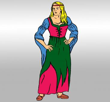 Peasant girl during the middle ages clipart clipart royalty free library What Did Women Wear in Medieval Times | LoveToKnow clipart royalty free library