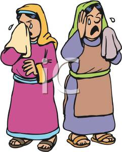 Peasant woman clipart png free Two Peasant Women Crying - Royalty Free Clipart Picture png free