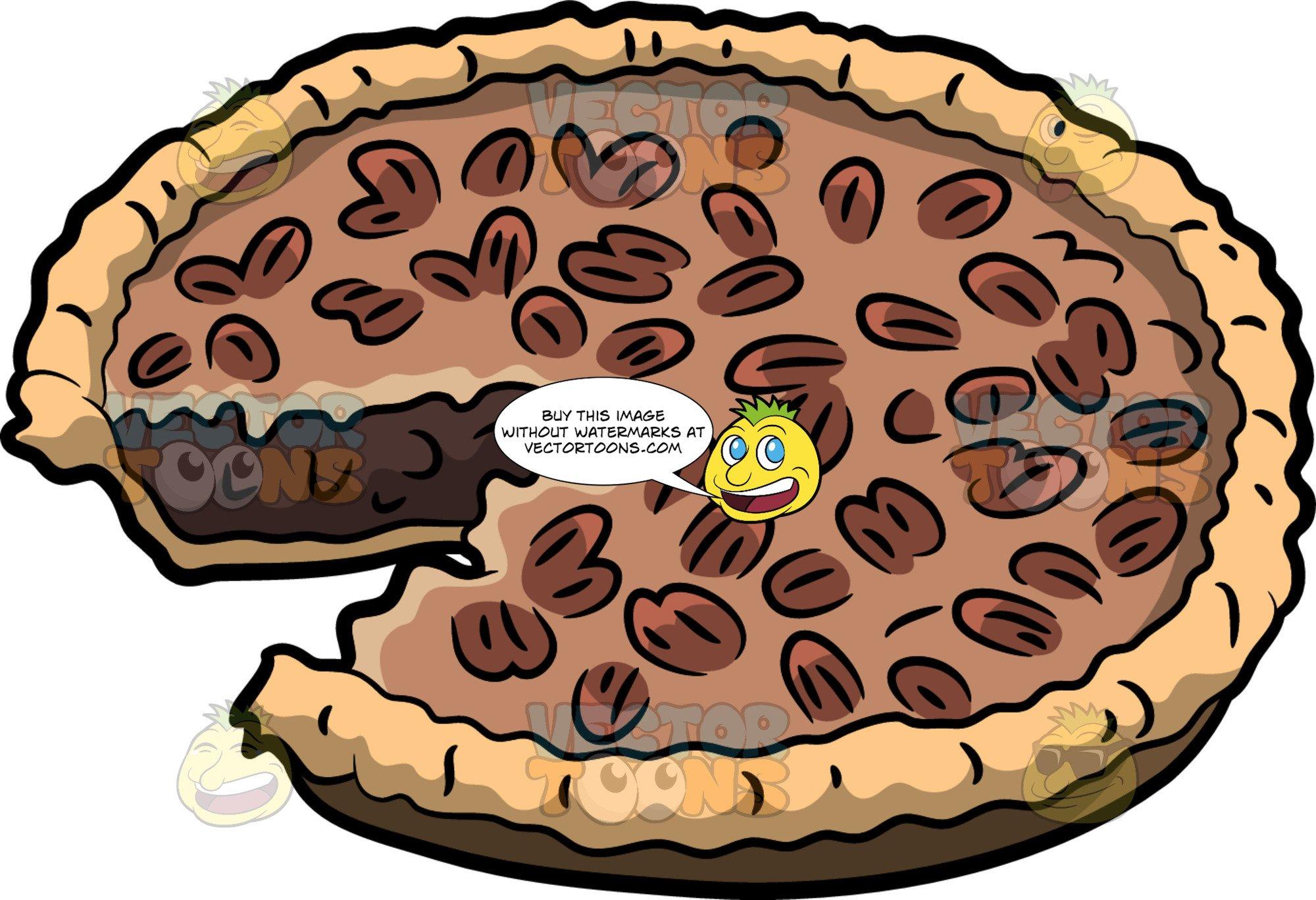 Pecan pie clipart clip art transparent library Chocolate Pecan Pie clip art transparent library