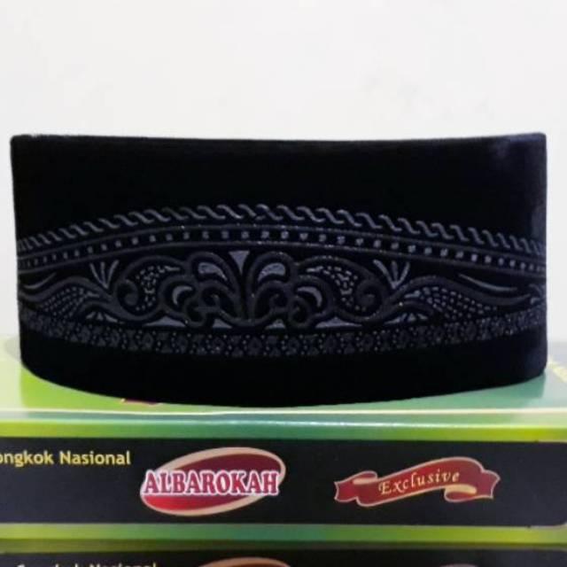Peci hitam clipart free Peci motif batik hitam songkok nasional free