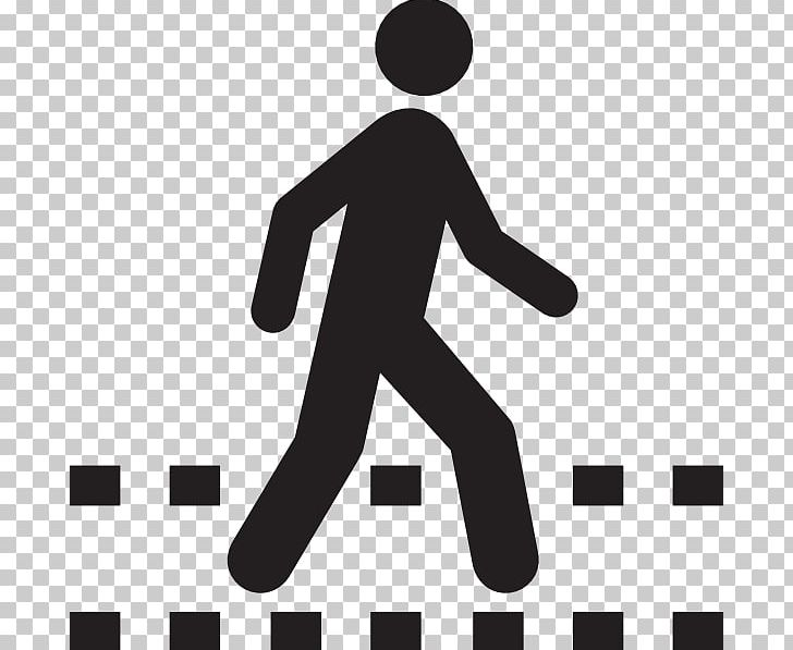 Pedestrian clipart black and white image free download Pedestrian Crossing Computer Icons PNG, Clipart, Area, Black ... image free download