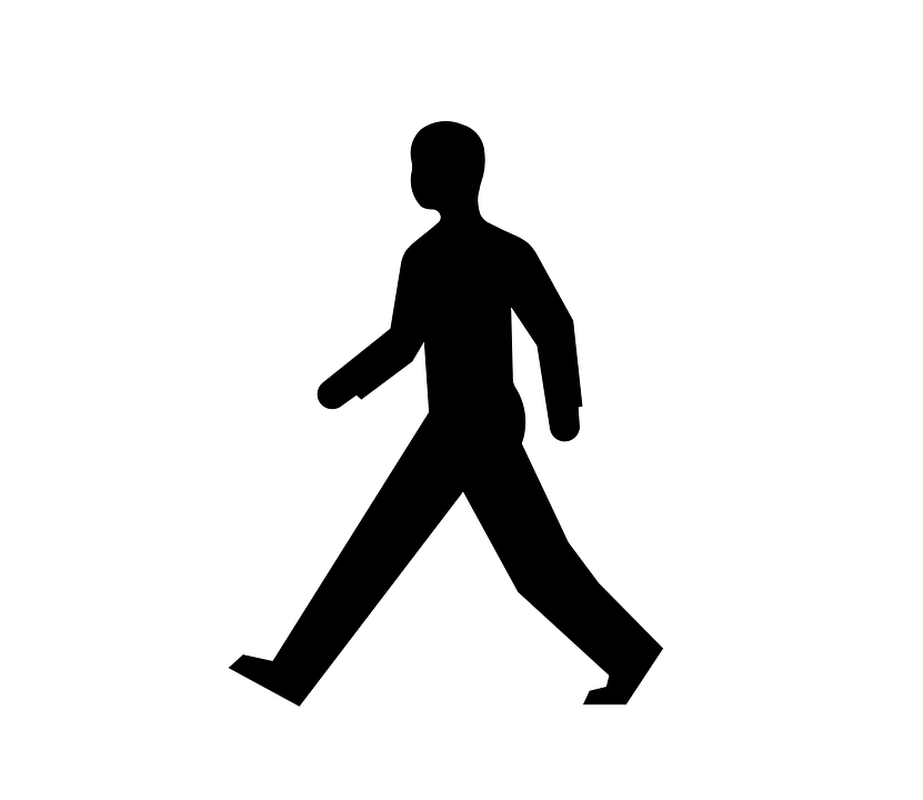 Pedestrian clipart black and white svg freeuse stock Human walking clipart black and white 3 » Clipart Portal svg freeuse stock