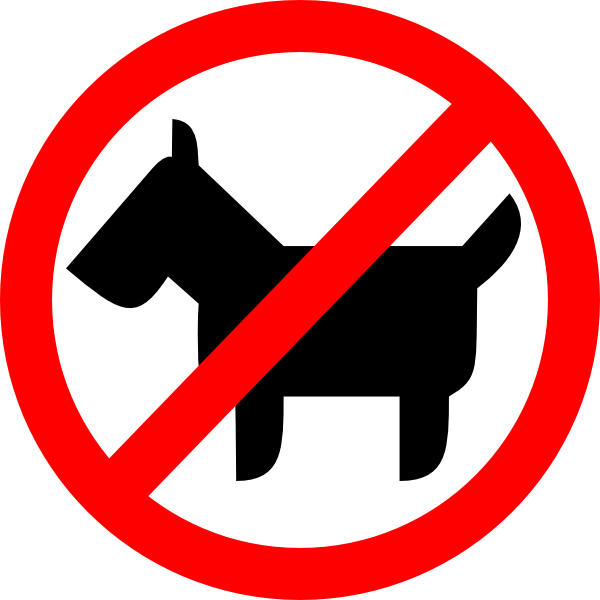 Peeing dog clipart black and white library Sign No Animals Clip Art at Clker.com - vector clip art online ... black and white library