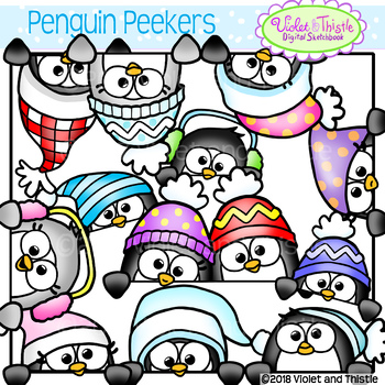 Peeking clipart graphic free Cute Penguin Peekers Peeking Penguins Page Toppers Faces ... graphic free