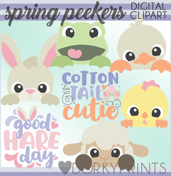 Peeking clipart picture freeuse download Peeking Spring Animals Clipart picture freeuse download