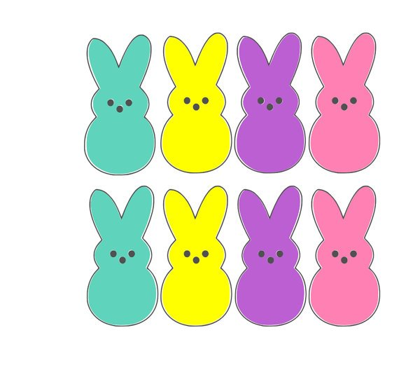 Peeps clipart vector library stock Easter peep clipart 7 » Clipart Portal vector library stock