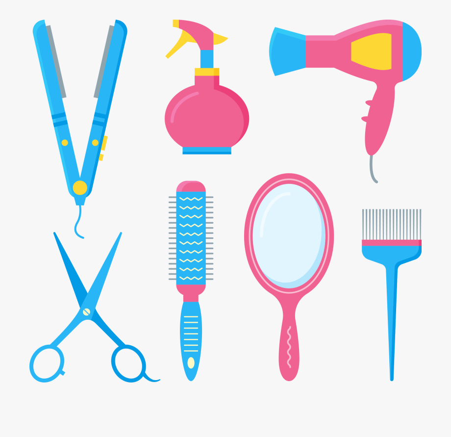 Peluqueria clipart picture library stock Comb Hairdresser Barbershop Hair Dryer Hairbrush - Imagenes ... picture library stock