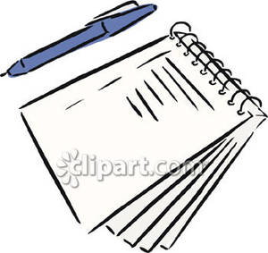 Pen and notepad clipart image library stock A Pen and a Spiral Notebook - Royalty Free Clipart Picture image library stock