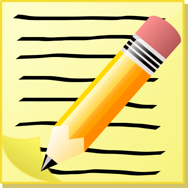 Pen and notepad clipart picture transparent stock Notepad Clip Art at Clker.com - vector clip art online ... picture transparent stock