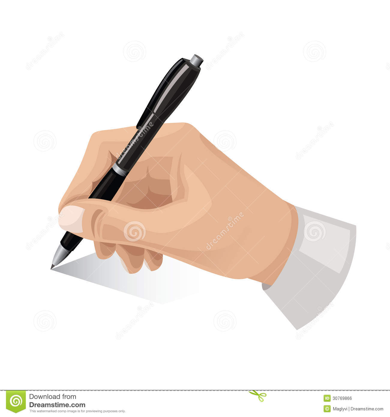 Pen in hand clipart jpg black and white Hand With Pen Royalty Free Stock Image - I #37367 ... jpg black and white