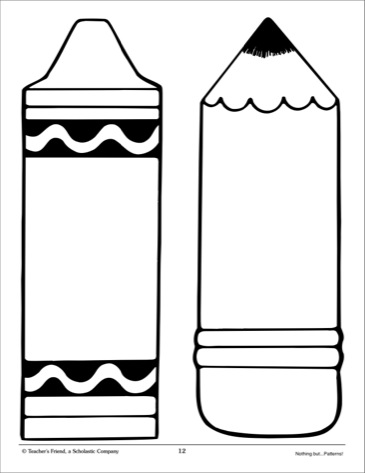 Pencil and crayons clipart in black and white clip library Crayons Black And White | Free download best Crayons Black And White ... clip library