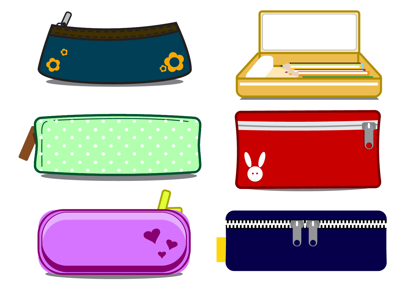 Pencil case clipart free royalty free download Student with pencil box clipart - ClipartFox royalty free download