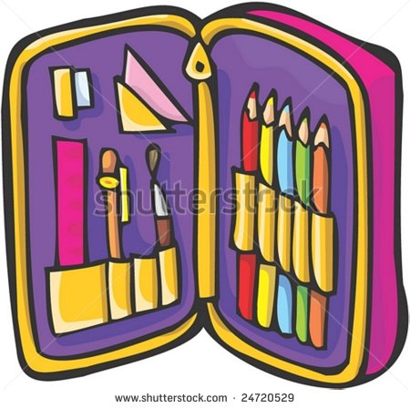 Pencil case clipart free vector library Pencil Cartoon- Friends Clipart - Clipart Kid vector library