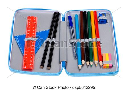 Pencil case clipart free jpg royalty free download Stock Images of pencil case macro - object on white - pencil case ... jpg royalty free download