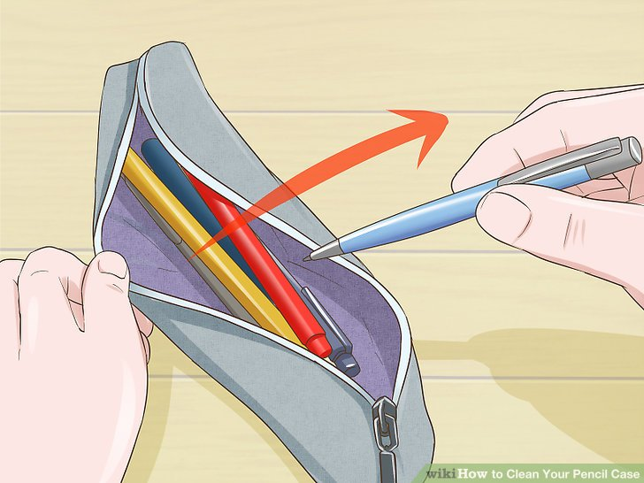 Pencil case made out of plastic bottle clipart clip black and white download 6 Ways to Clean Your Pencil Case - wikiHow clip black and white download