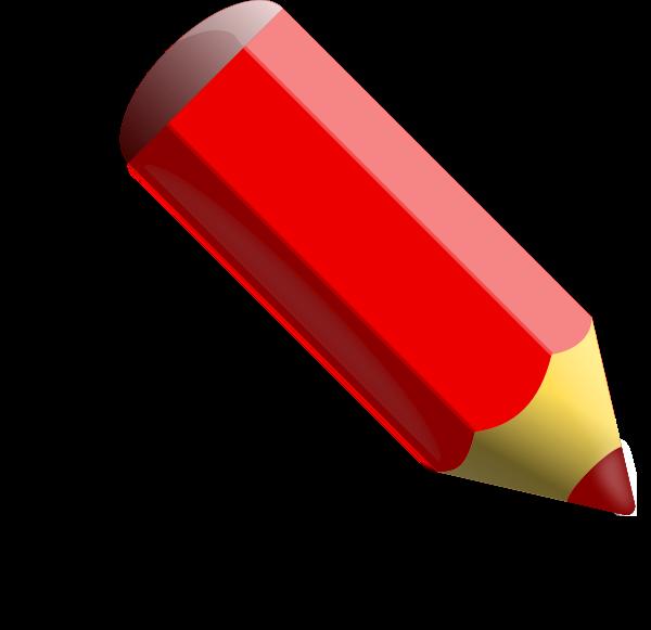 Pencil clipart size clip art transparent Red Pencil Clipart - Clipart Kid clip art transparent