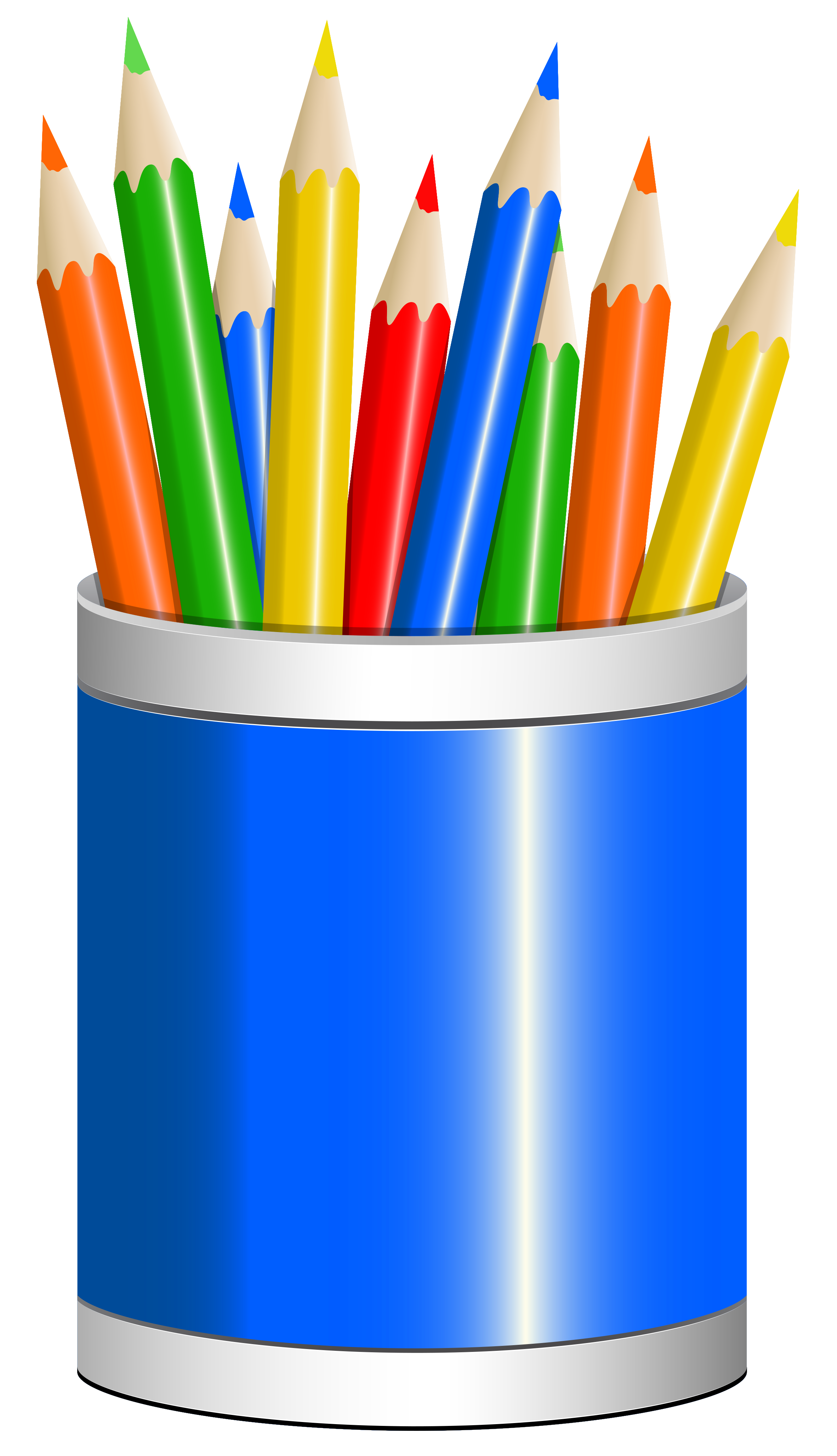 School pencil clipart png black and white library Blue Pencil Cup PNG Clipart Image png black and white library