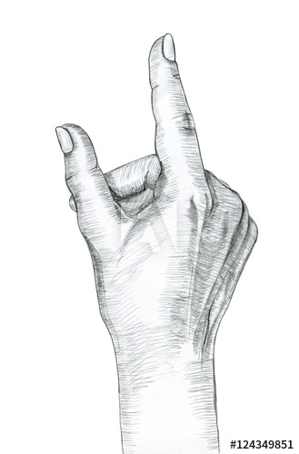 Pencil drawn three finger hand signal clipart clip art library library Pointing Finger Drawing at PaintingValley.com   Explore ... clip art library library