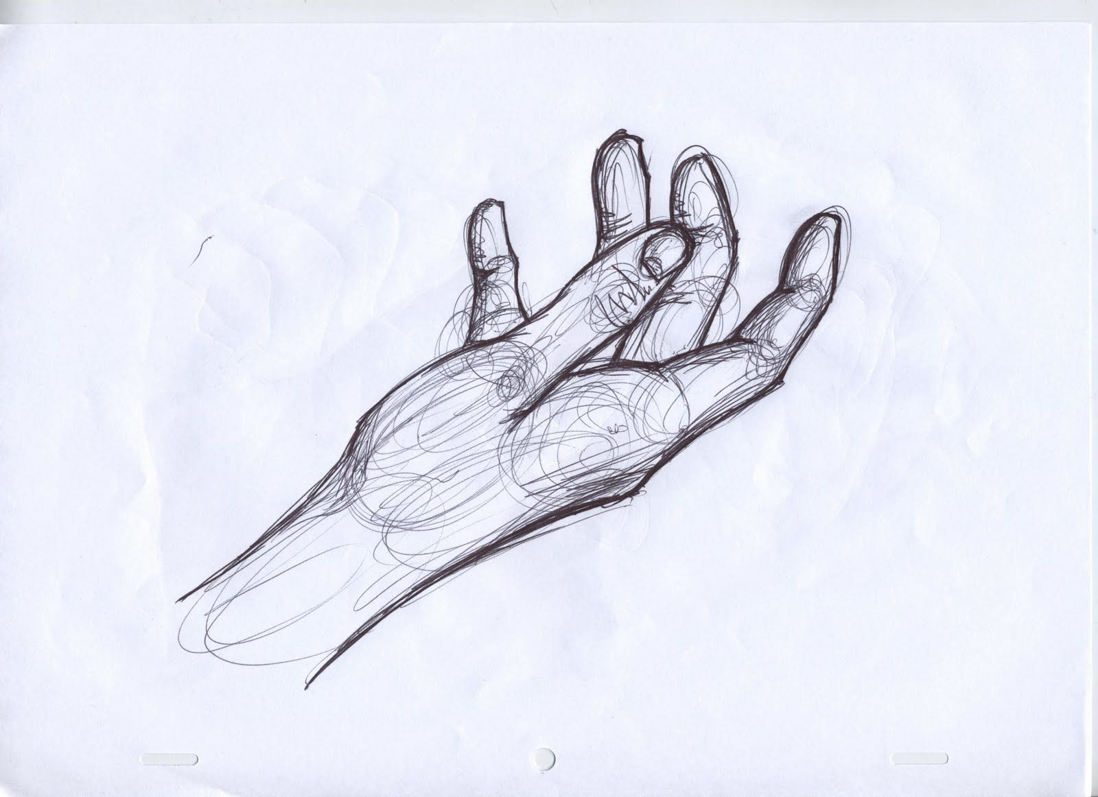 Pencil drawn three finger hand signal clipart black and white quickly do this kind of drawing with pen   hand-held project ... black and white