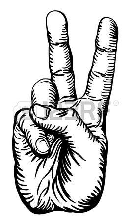 Pencil drawn three finger hand signal clipart graphic transparent Cartoon Peace Sign Hand Clipart   Free download best Cartoon ... graphic transparent