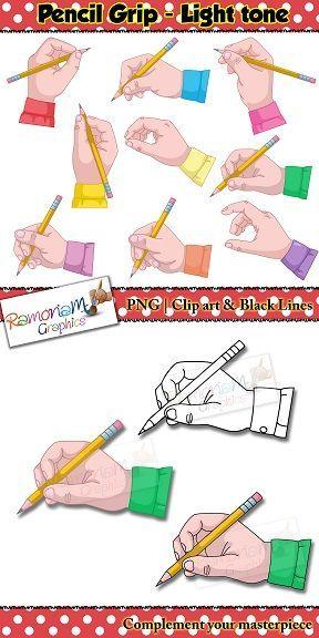 Pencil grip clipart jpg black and white library Pencil Grip/Grasp Clip art | Teacher\'s Helper | Pencil grip ... jpg black and white library