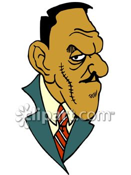 Pencil thin mustache clipart svg royalty free download Royalty Free Clip Art Image: Crime Boss With a Thick Scar and ... svg royalty free download