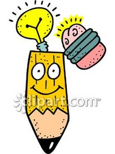 Pencil with face clipart picture royalty free stock A Cartoon Pencil with a Face - Royalty Free Clipart Picture picture royalty free stock
