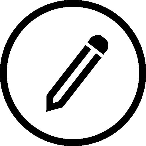 Pencil wrting circal clipart graphic freeuse stock Pencil writing tool symbol in circular button outline Icons ... graphic freeuse stock