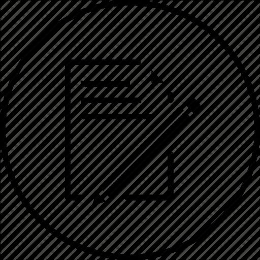 Pencil wrting circal clipart black and white \'Web, SEO & Development Vol 1\' by Chamestudio Pvt Ltd black and white