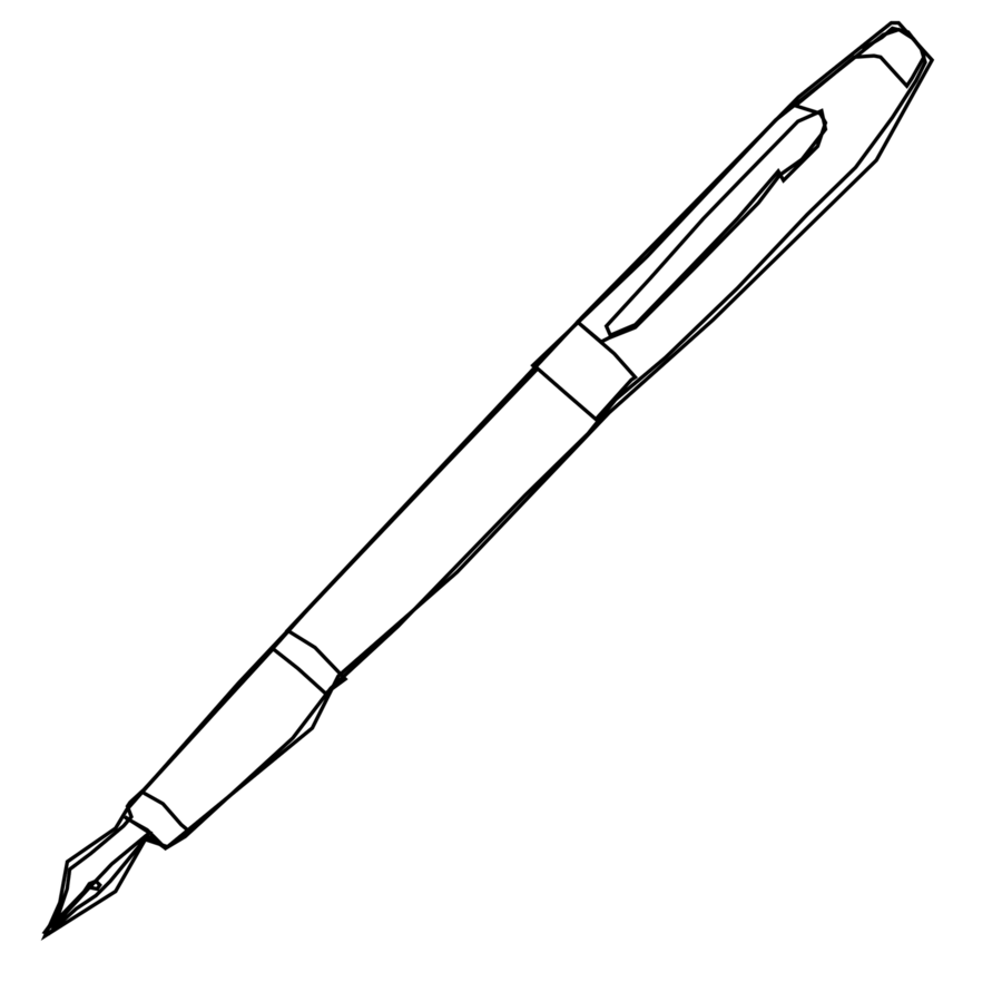 Pencils and pens clipart black and white png library Pencil Cartoon clipart - Pencil, transparent clip art png library