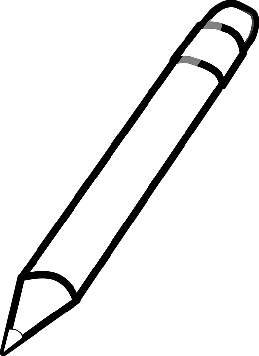 Pencils and pens clipart black and white banner black and white library HD Pencil - Clipart - Black - And - White - Pencil Drawing ... banner black and white library