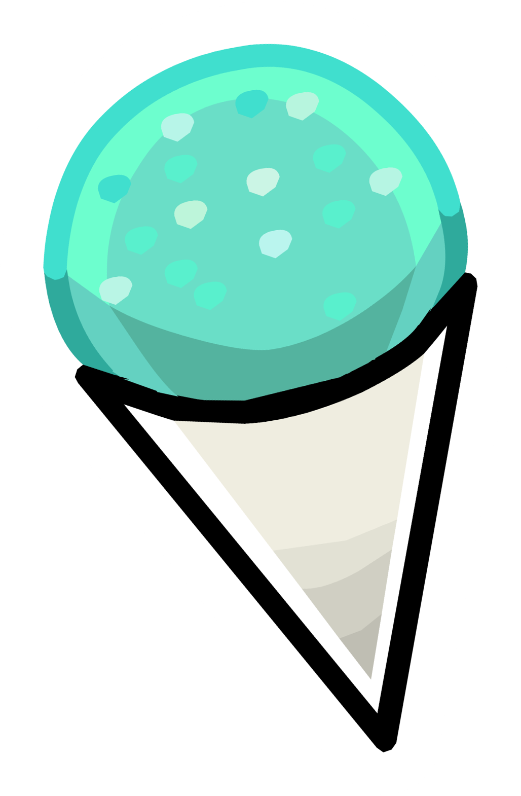 Penguin eating fish clipart graphic black and white library Snow Cone | Club Penguin Wiki | FANDOM powered by Wikia graphic black and white library