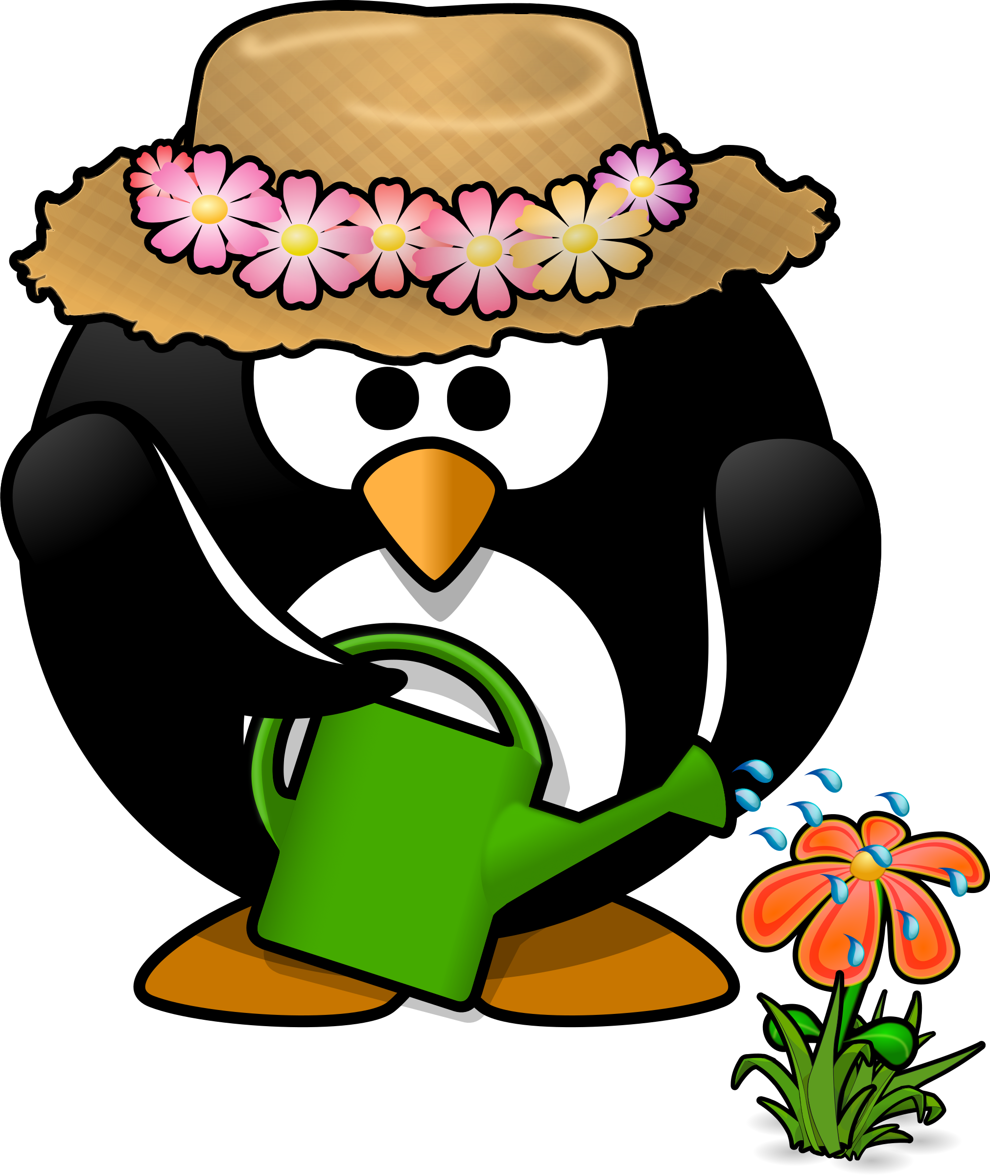 Pumpkin penguin clipart clip art black and white stock Microsoft clip art gardening clipart garden penguin toublanc info ... clip art black and white stock