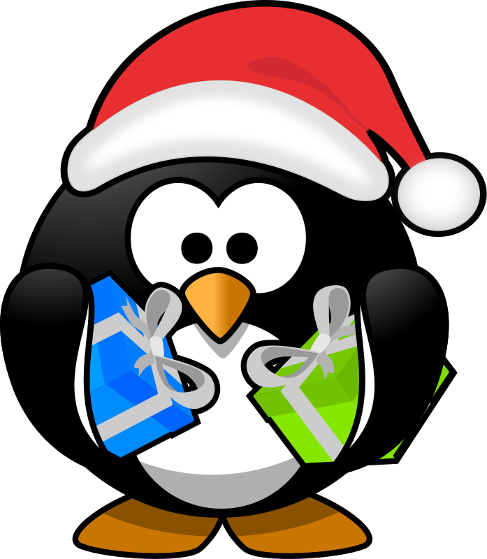 Penguin holiday clipart png black and white Holiday penguin clipart clipart images gallery for free ... png black and white