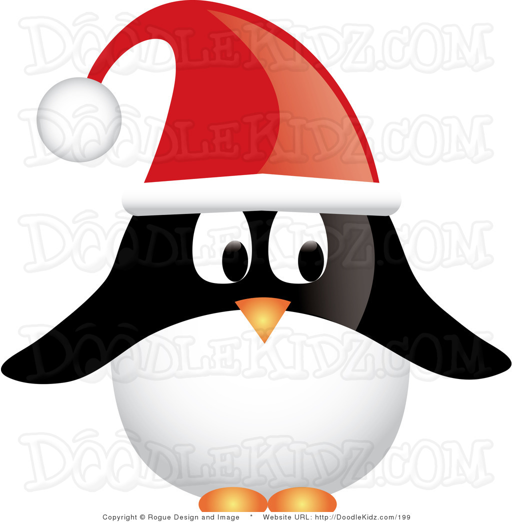Penguin holiday clipart black and white Holiday Penguin Clipart | Clipart Panda - Free Clipart Images black and white