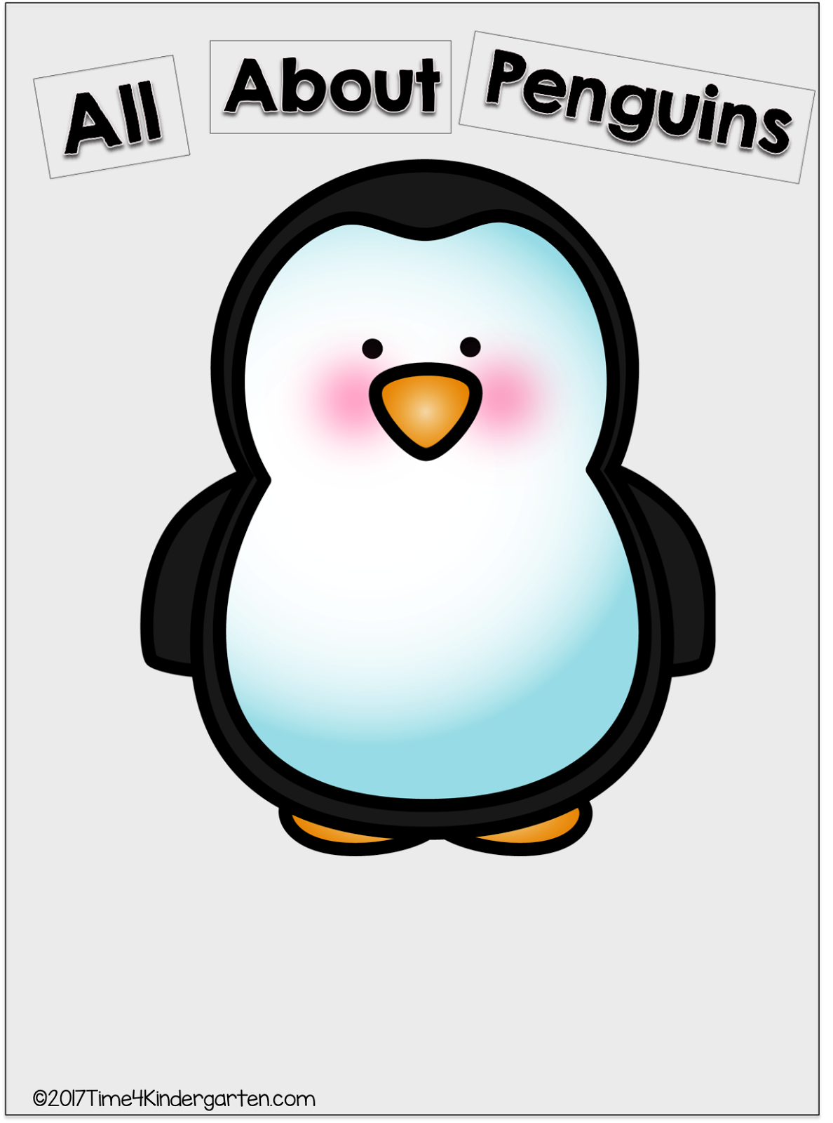 Penguin reading a book clipart image library stock Time 4 Kindergarten: All About Penguins image library stock