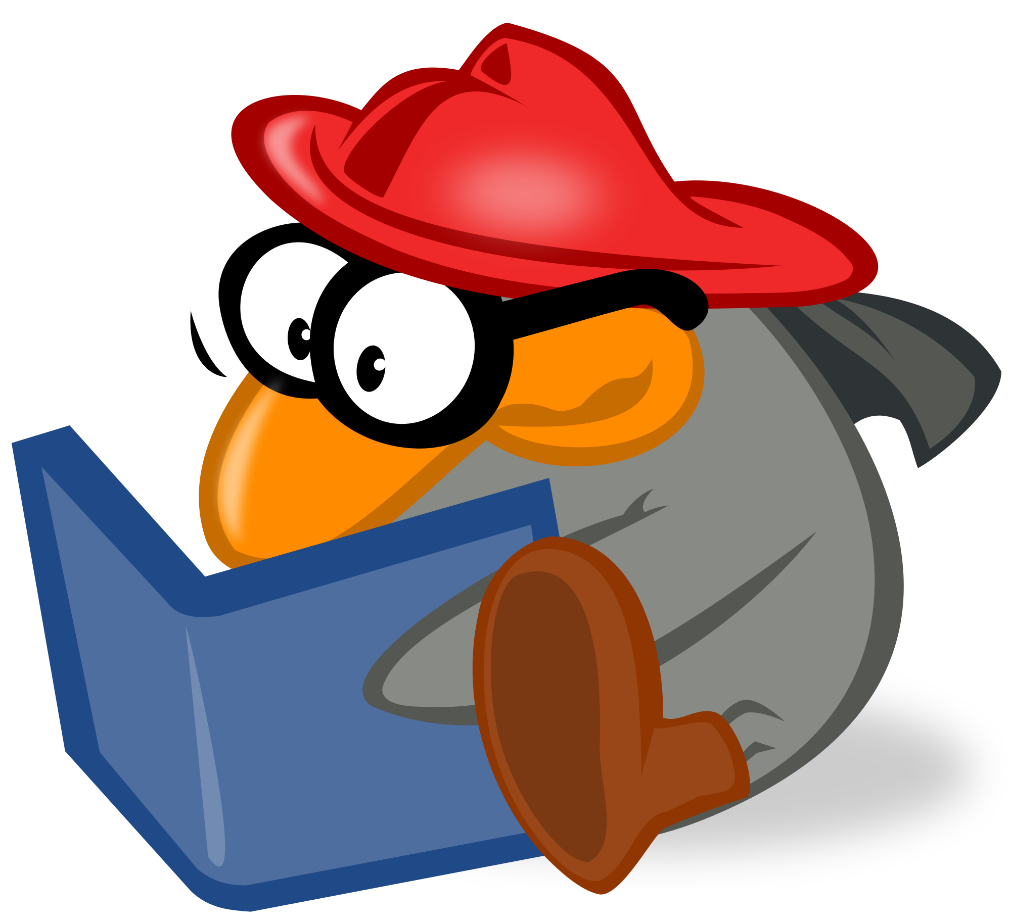 Penguin reading a book clipart clipart freeuse download File:Penguin reading by mimooh.svg - Wikimedia Commons clipart freeuse download
