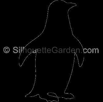 Penguin silhouette clipart vector Penguin Silhouette vector