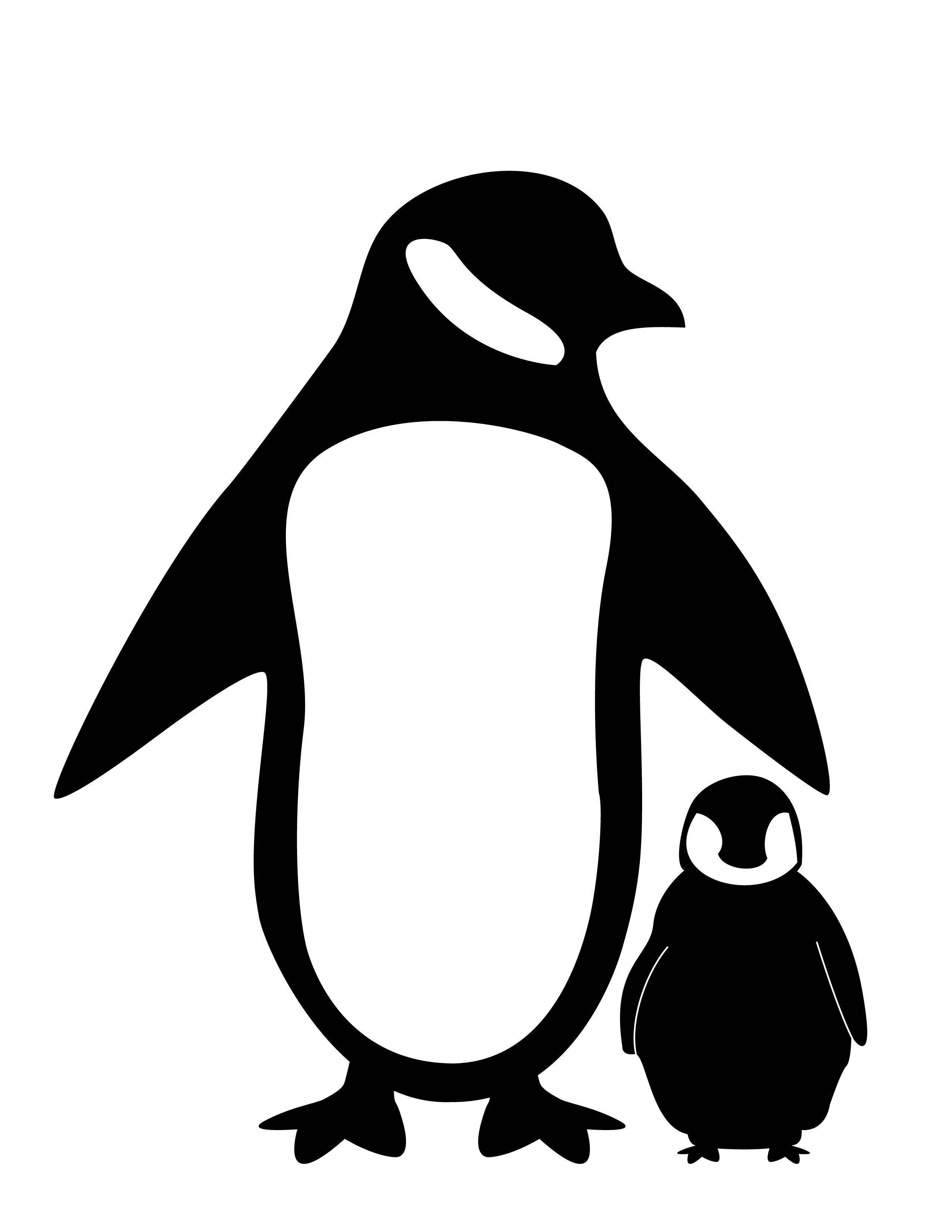 Penguin silhouette clipart jpg free download Penguin Silhouette Fc09 deviantart net black white penguin ... jpg free download