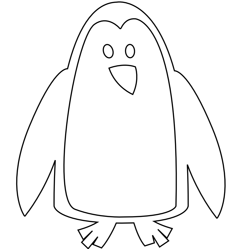 Penguin with book clipart image royalty free stock Penguin Clip Art Black And White | Clipart Panda - Free Clipart Images image royalty free stock