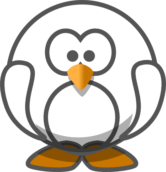 Penguin with book clipart svg library Transparent White Penguin Clip Art at Clker.com - vector clip art ... svg library