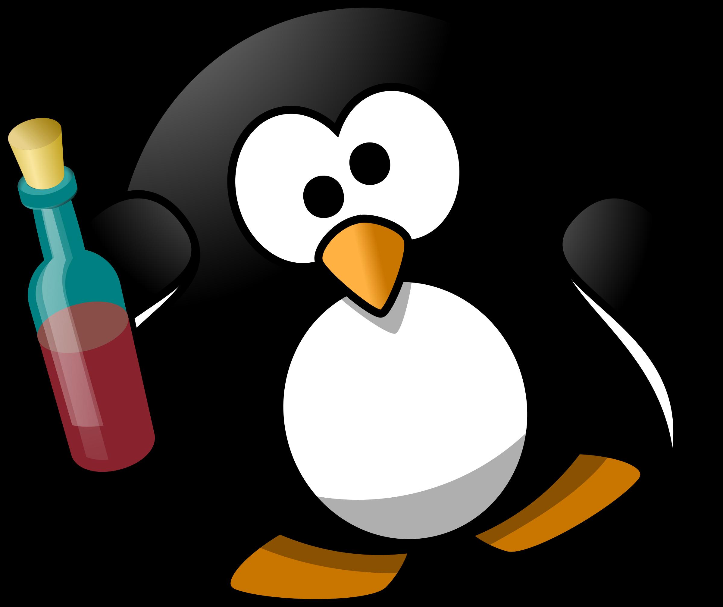 Penguin with book clipart clip stock Clipart - Drunk penguin clip stock