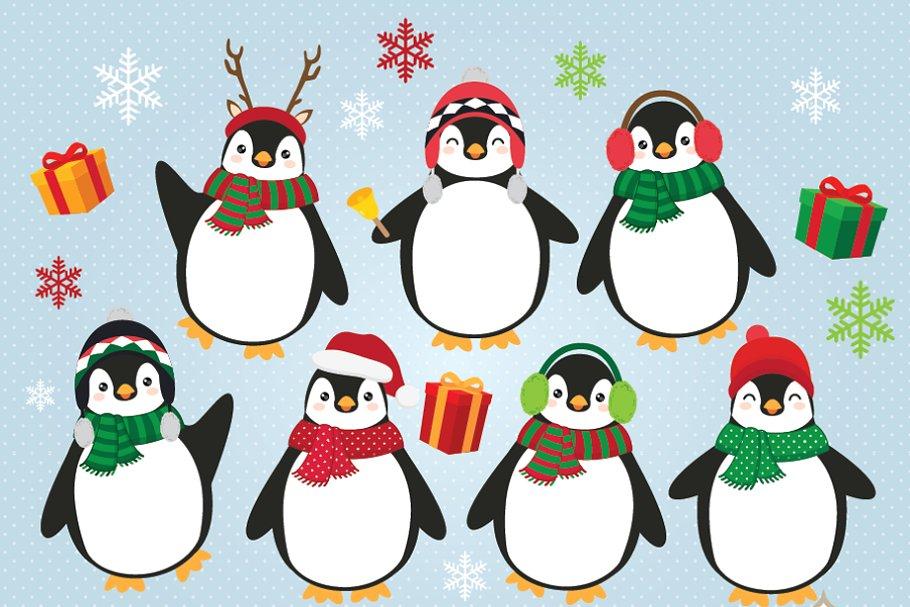 Penguins clipart clip stock Christmas Penguins Clipart clip stock