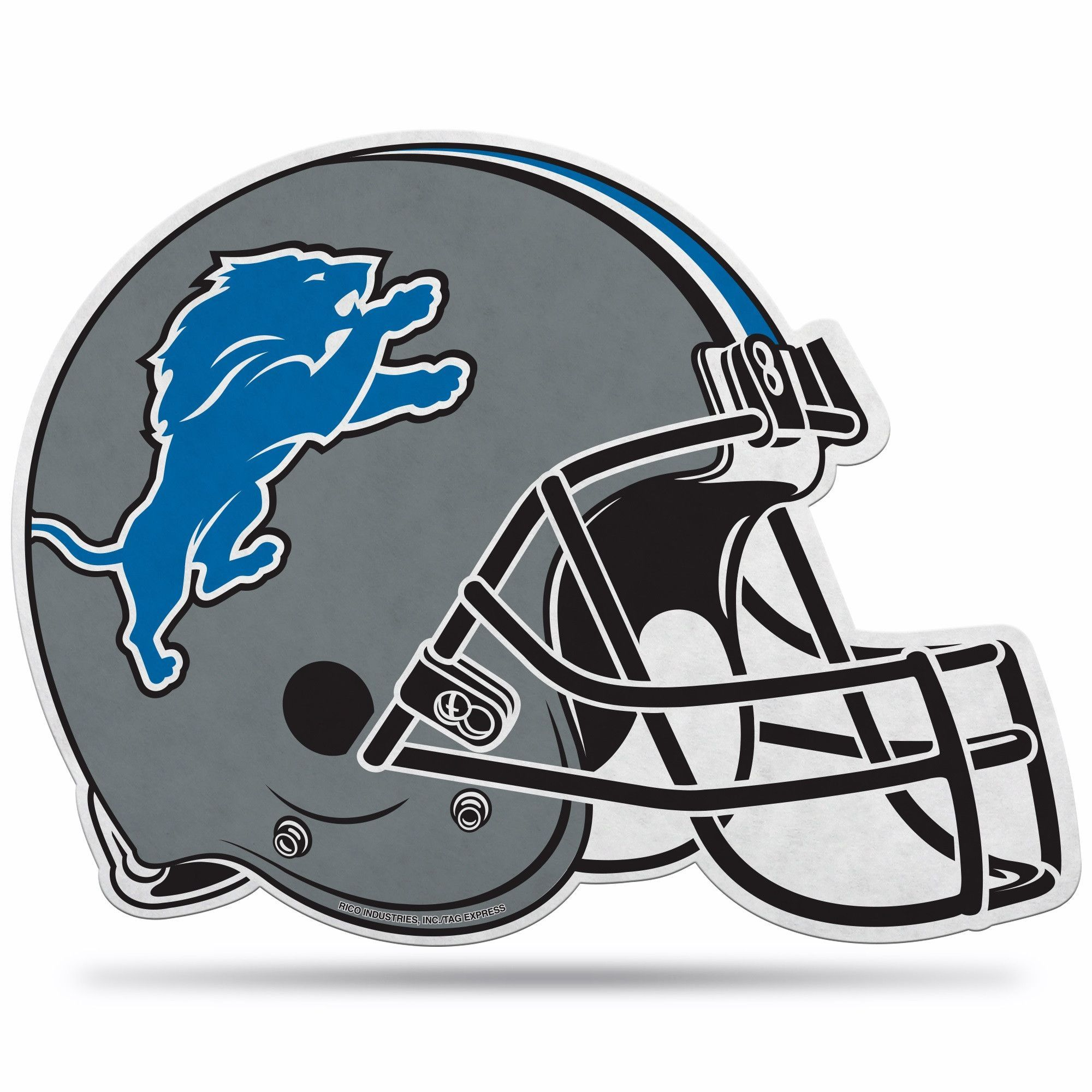 Pennant with football helmet clipart clipart black and white stock Detroit Lions Helmet Die-Cut Pennant | Products | Football ... clipart black and white stock