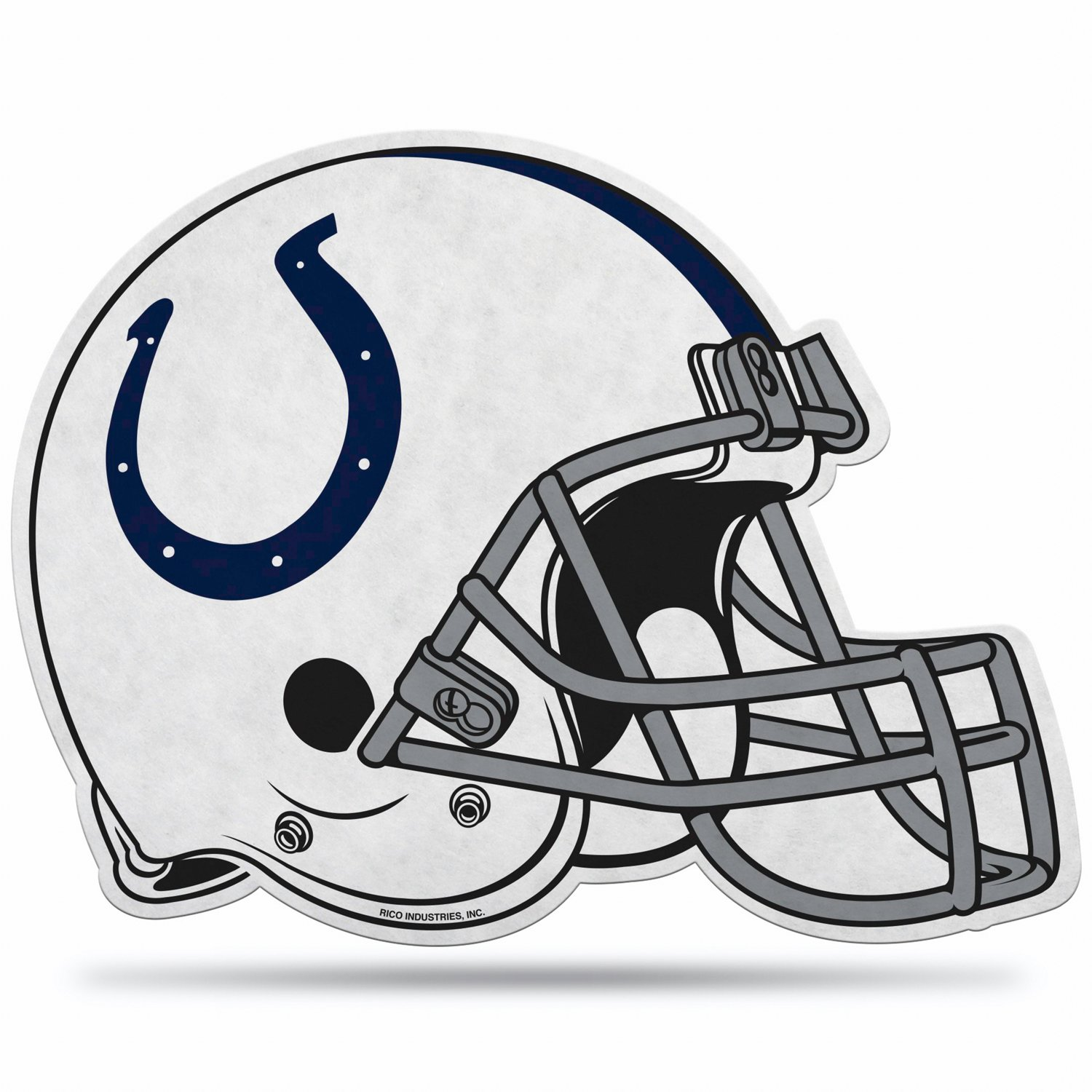 Pennant with football helmet clipart clipart black and white Rico Indianapolis Colts Helmet Pennant clipart black and white