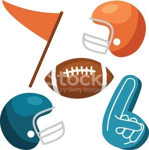 Pennant with football helmet clipart clip art stock Football Vectors: Helmets, Ball, Foam Finger, Pennant ... clip art stock