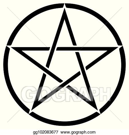 Pentacle vector clipart banner library library Vector Art - Religious sign. wicca and neopaganism. pentacle ... banner library library