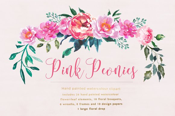 Peonies flower clipart png royalty free Pink Peonies Flower Clipart png royalty free