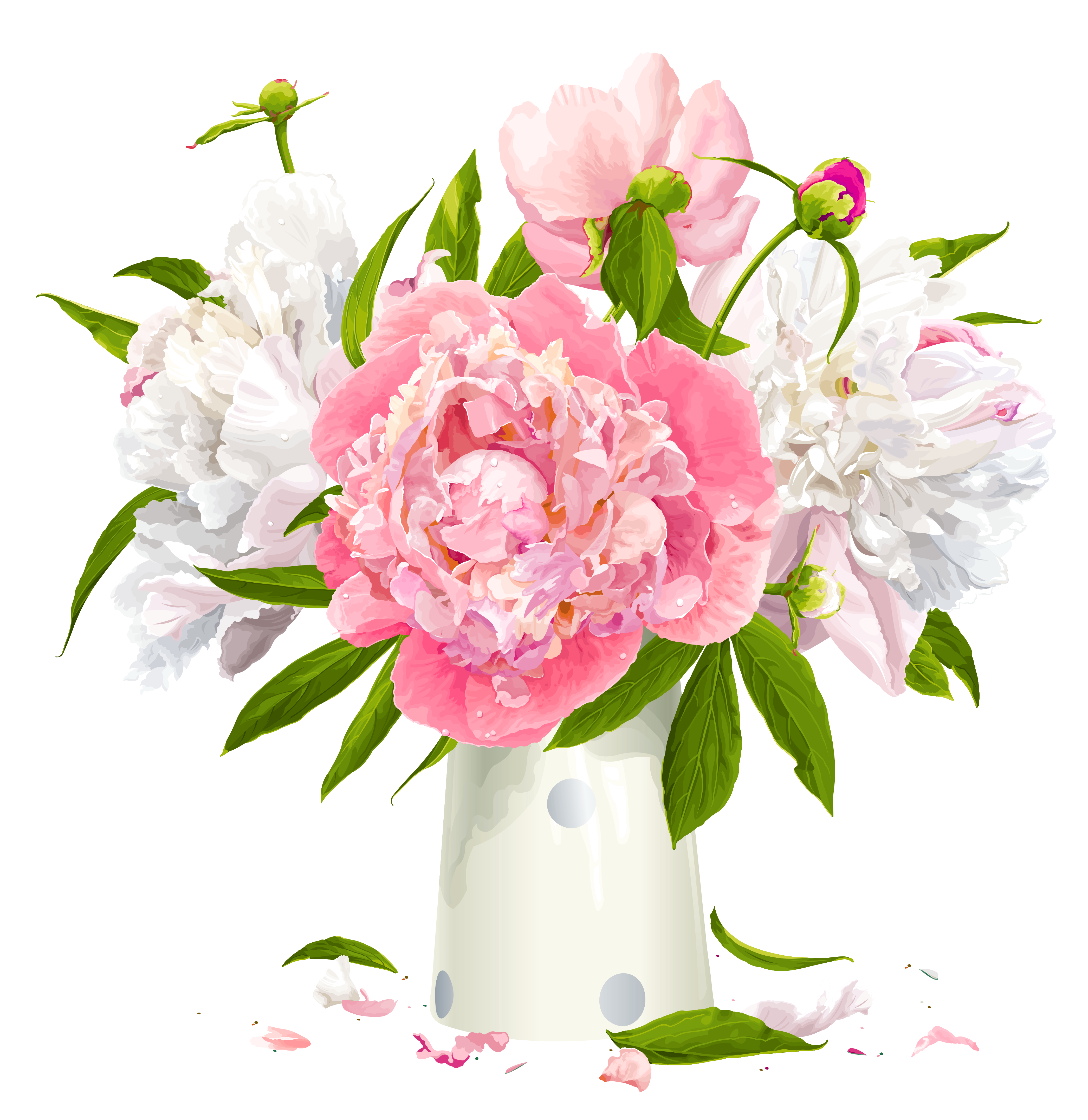 Peonies flower clipart free library Peony cliparts | Printable images | Peonies, Vase, Flower ... free library